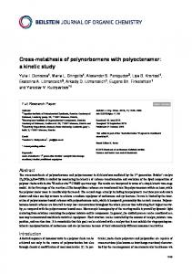 Cross-metathesis of polynorbornene with