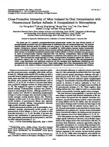 Cross-Protective Immunity of Mice Induced by Oral Immunization with ...