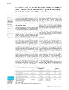 cross sectional, questionnaire study - The BMJ