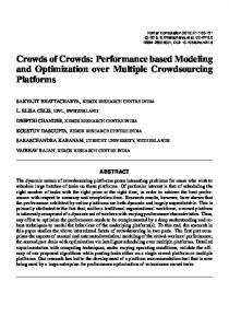 Crowds of Crowds: Performance based Modeling and Optimization