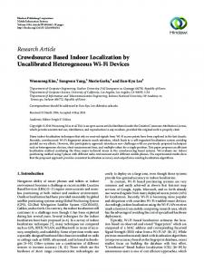 Crowdsource Based Indoor Localization by Uncalibrated