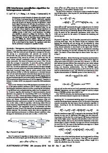 CRS interference cancellation algorithm for ... - IEEE Xplore