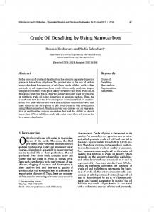 Crude Oil Desalting by Using Nanocarbon