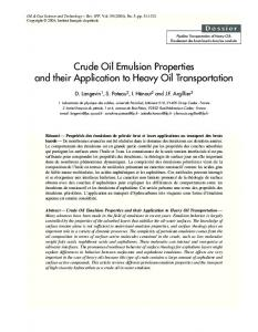 Crude Oil Emulsion Properties and their Application to ... - CiteSeerX