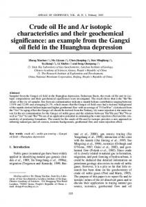 Crude oil He and Ar isotopic characteristics and their ...