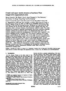 Crustal and upper mantle structure of northern ... - Semantic Scholar