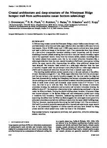 Crustal architecture and deep structure of the Ninetyeast ... - Uni Bremen