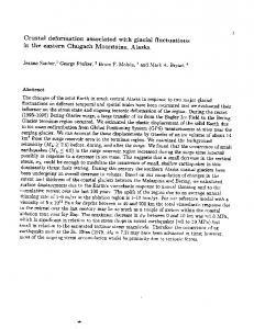 Crustal deformation associated with glacial fluctuations in the eastern ...