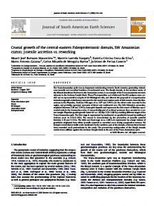 Crustal growth of the central-eastern Paleoproterozoic domain ... - UFPa
