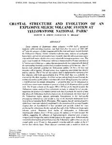 crustal structure and evolution of explosive silicic volcanic system at ...