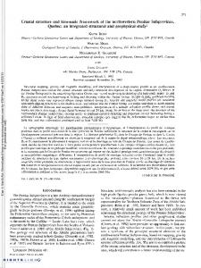 Crustal structure and kinematic framework of the ...