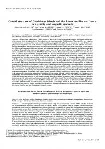 Crustal structure of Guadeloupe islands and the Lesser ... - CiteSeerX