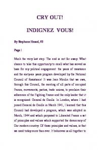 CRY OUT! INDIGNEZ VOUS! - ThereAreNoSunglasses