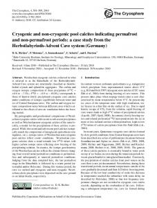 Cryogenic and non-cryogenic pool calcites ... - The Cryosphere