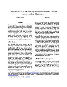 Cryptanalysis of an efficient signcryption scheme with ... - CiteSeerX