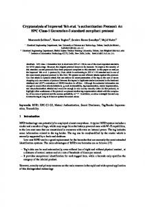 Cryptanalysis of improved Yeh et al. 's authentication Protocol: An ...