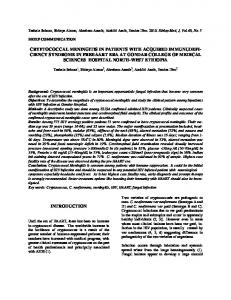 cryptococcal meningitis in patients with acquired ...