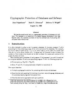 Cryptographic Protection of Databases and Software