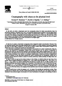 Cryptography with chaos at the physical level - Semantic Scholar