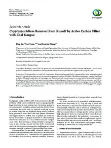 Cryptosporidium Removal from Runoff by Active Carbon Filter with ...