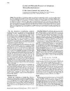 Crystal and Molecular Structure of Anhydrous Tetraacetatodichromium