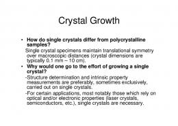 Crystal Growth