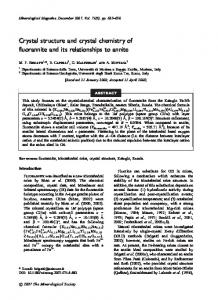 Crystal structure and crystal chemistry of ... - GeoScienceWorld