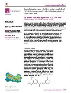 Crystal structure and Hirshfeld surface analysis of (2E)-3-(3 ...