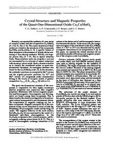 Crystal Structure and Magnetic Properties of the