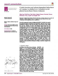 Crystal structure and solvent-dependent ... - Semantic Scholar