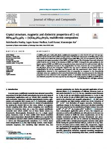 Crystal structure, magnetic and dielectric properties of
