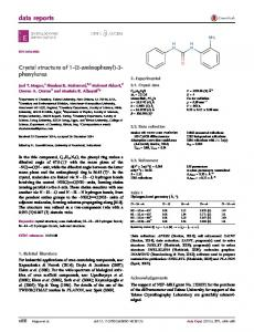 Crystal structure of 1-(2-aminophenyl)-3-phenylurea - IUCr Journals