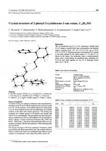 Crystal structure of 2-phenyl-2-cyclohexene-l-one