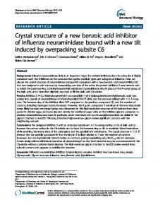 Crystal structure of a new benzoic acid inhibitor of ... - CyberLeninka