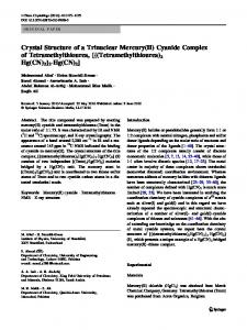 Crystal Structure of a Trinuclear Mercury(II) Cyanide ... - Springer Link