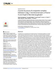 Crystal structure of a tripartite complex between