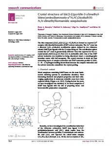 Crystal structure of bis(2-{[(pyridin-2-yl ... - Semantic Scholar