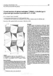 Crystal structure of calcium molybdate, CaMo04, a