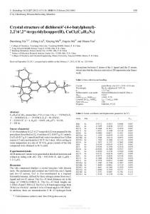 Crystal structure of dichloro(4'-(4-t-butylphenyl)- 2,2':6