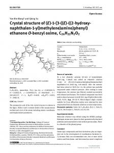 Crystal structure of (E)-1-(3-((E)-((2-hydroxy