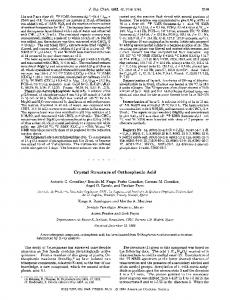 Crystal structure of orthosphenic acid - American Chemical Society