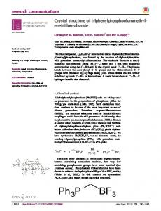 Crystal structure of ... - Semantic Scholar