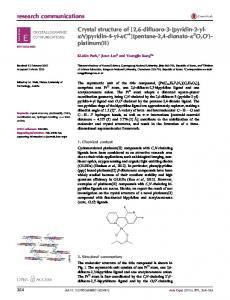 Crystal structure of - Semantic Scholar
