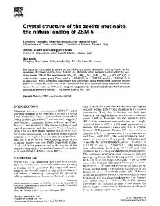 Crystal structure of the zeolite mutinaite, the natural ... - Science Direct
