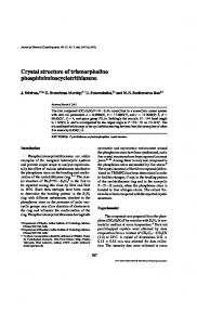 Crystal structure of trismorpholino ... - Springer Link