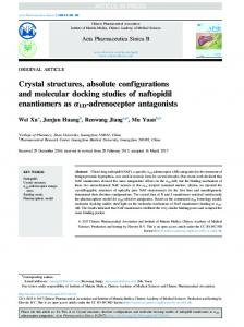Crystal structures, absolute configurations and ...