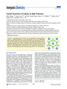 Crystal Structures of CaB3N3 at High Pressures - ACS Publications