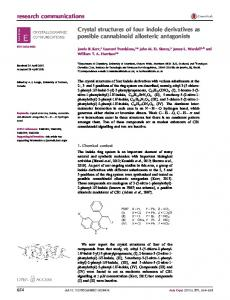 Crystal structures of four indole derivatives as possible ... - IUCr Journals