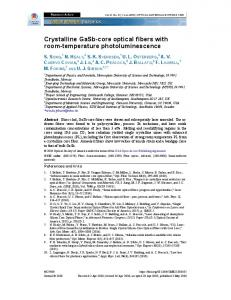 Crystalline GaSb-core optical fibers with room ... - OSA Publishing