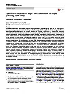 Crystallisation sequence and magma evolution of the ...
